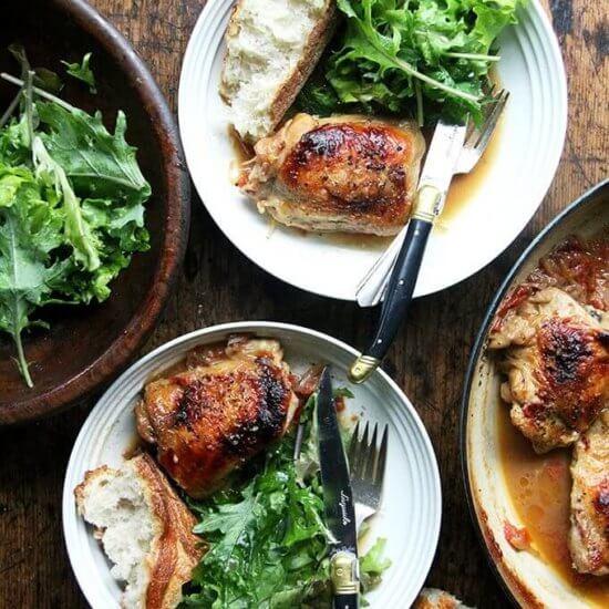 One-Pan Chicken with Sherry Vinegar Sauce