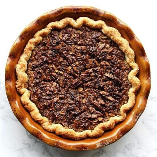 No Corn Syrup Bourbon Pecan Pie with Foolproof Pie Dough