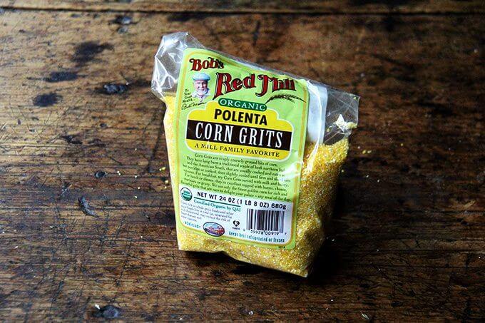 A bag of polenta.