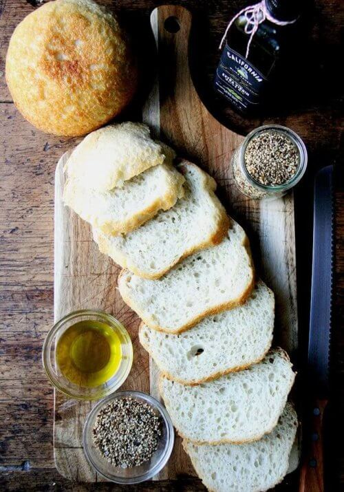 Fresh bread, good olive oil, a smoky, seedy dukkah—this appetizer reminded me how a simple flourish can make such an impression—it can be, in fact, all everyone needs to kick off an evening; it can be everything everyone dreams about for days. // alexandracooks.com