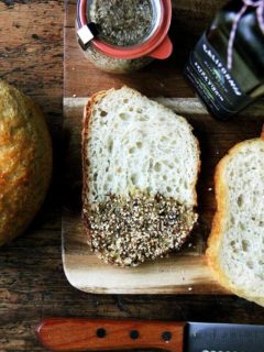bread with dukkah
