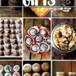 A montage of homemade edible gifts.