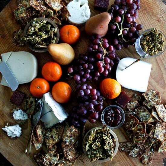 Three-Seed Crackers (Jan's Farmhouse Crisps & Raincoast Crisps Copycat Recipe) + How to Assemble A Cheese Board (Video)
