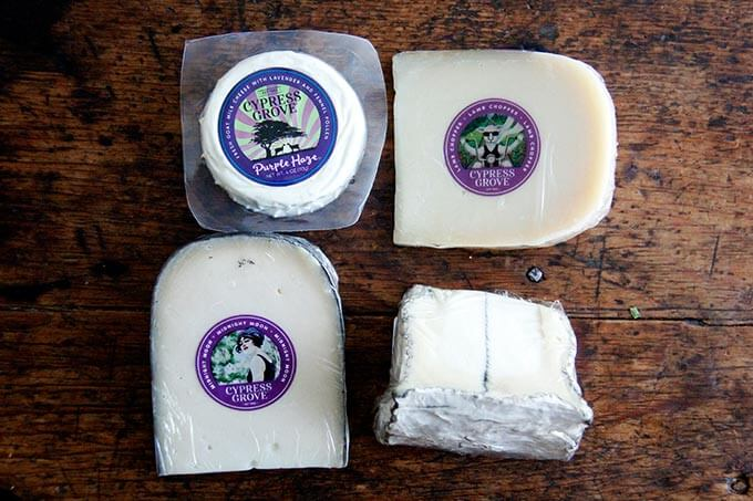 A selection of 4 Cypress Grove Cheeses.