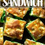 Focaccia slab sandwich.