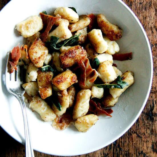 Potato Gnocchi with Brown Butter, Crispy Prosciutto and Sage from Jessica Battilana's Repertoire