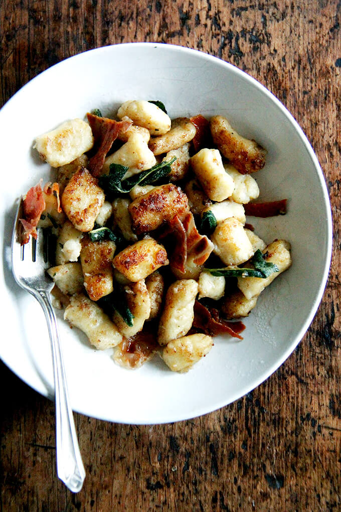Potato Gnocchi With Brown Butter Crispy Prosciutto And