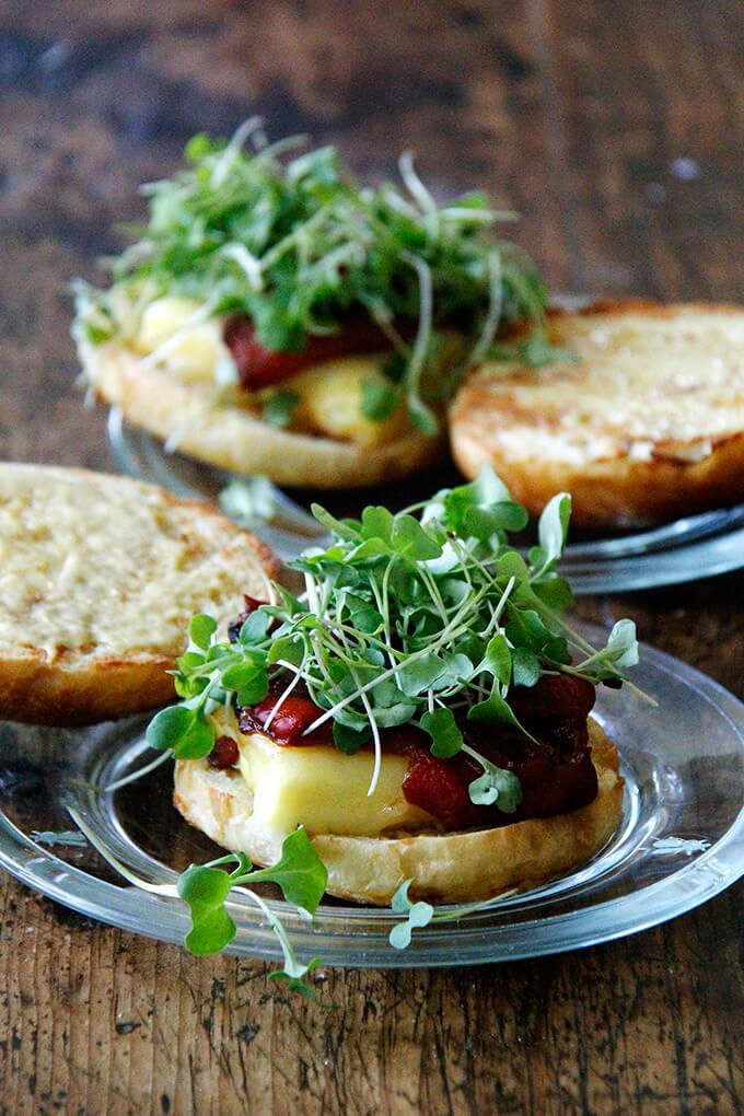 Joanne Chang's famous egg sandwich on brioche bun.