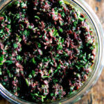 olive tapenade with capers and parsley