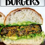 Sweet potato and quinoa veggie burger.