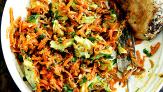 Moroccan Carrot Salad With Harissa And Avocado Alexandra S Kitchen