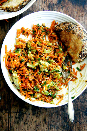 Moroccan Carrot Salad with Harissa and Avocado
