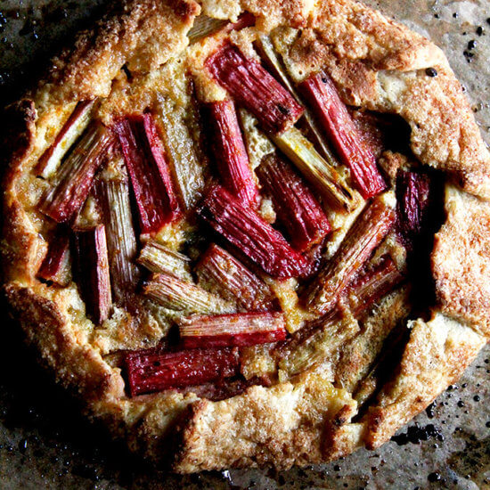 Rhubarb-Frangipane Galette + Foolproof Food Processor Pastry Dough