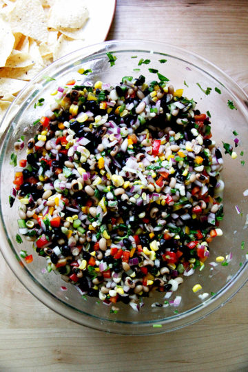 Texas Caviar-ish with Pressure Cooked Black Eyed Peas & Black Beans