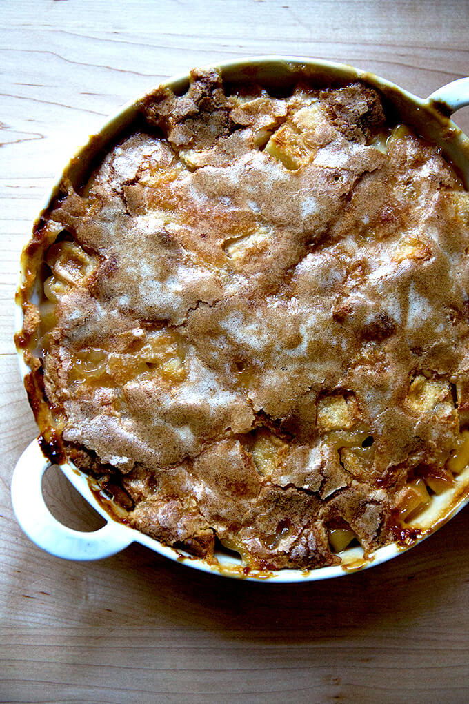 Apple Cobbler with Hot Sugar Crust
