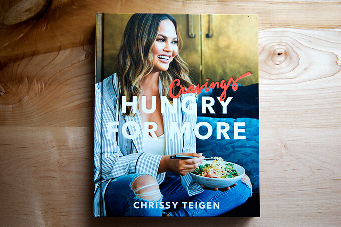 Chrissy Teigen's Cravings, peppered with humor and spice throughout, this books offers a selection of no-fuss, healthy-ish recipes.