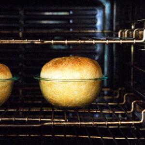 Bread in Pyrex