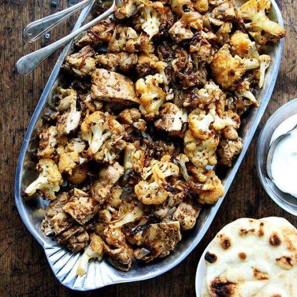 chicken and cauliflower shawarma