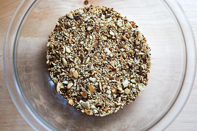 Toasted almond dukkah.