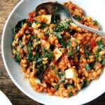 Ottolenghi's farro with tomatoes and kale