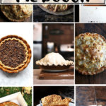A montage of homemade pies and tarts.