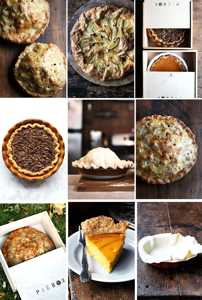 A montage of pies and tarts using a foolproof pie dough recipe.