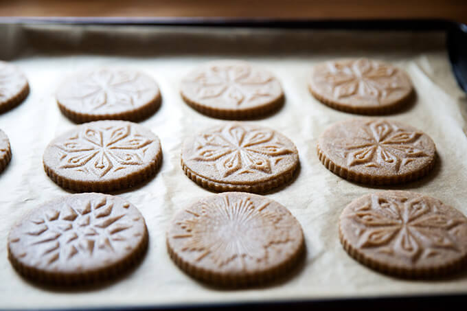 Stamped spiced brown butter muscovado cookies