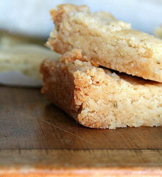 Melissa Clark's Rosemary shortbread.