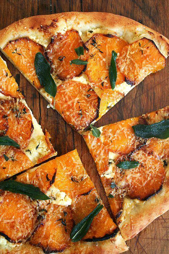 butternut squash pizza with sage