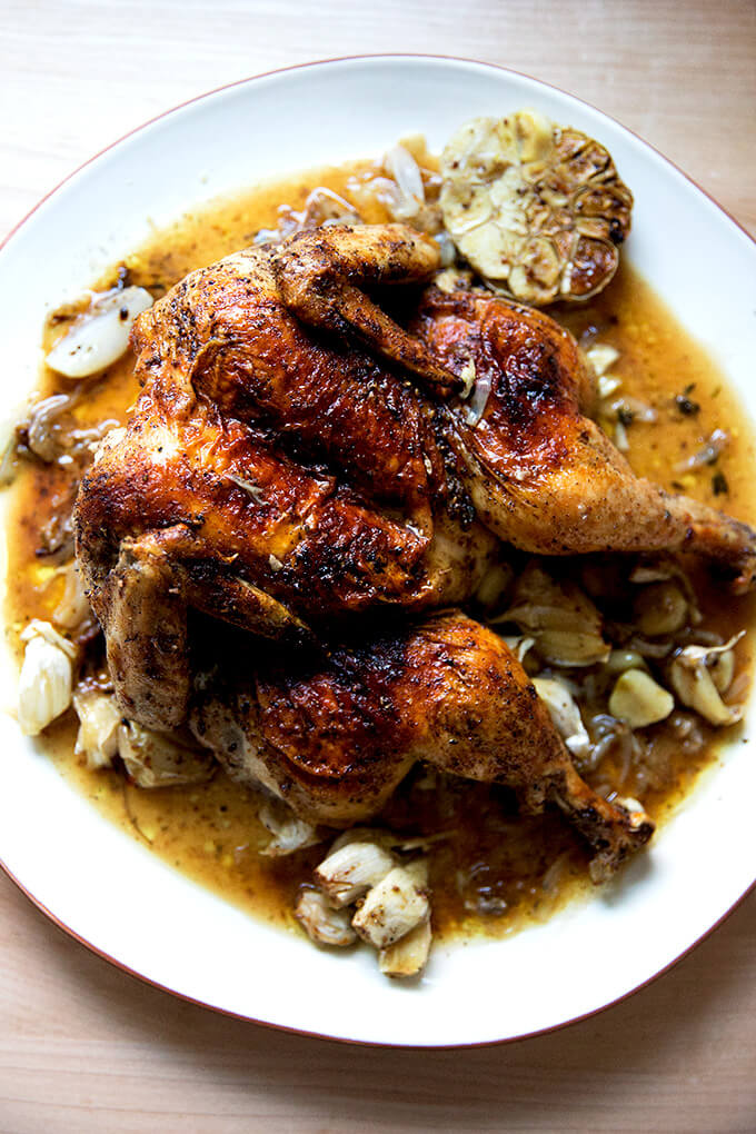 Spatchcock Chicken Recipe With Za Atar Lemon Alexandra S Kitchen