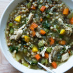 homemade chicken soup with fregola