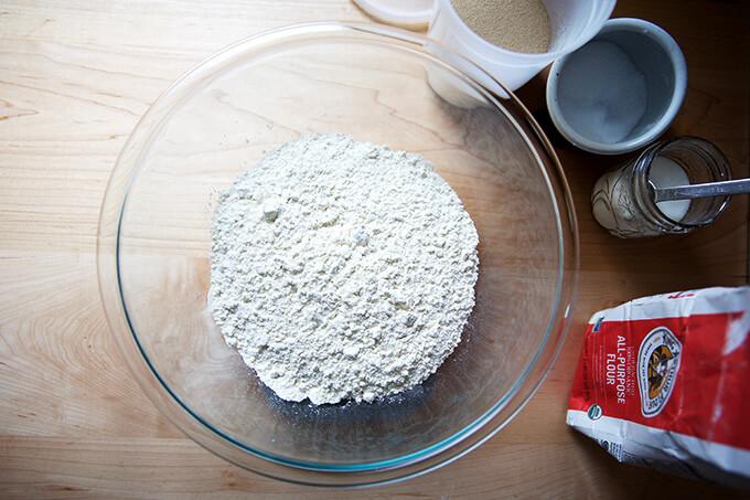 flour salt sugar yeast