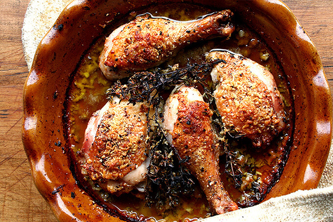chicken with parmesan and white wine and olive oil