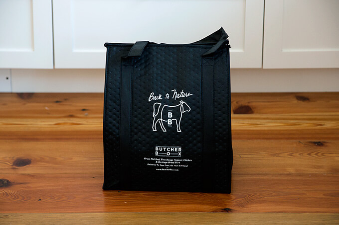 Butcher Box freezer bag