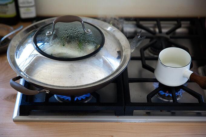 steaming the Branzino, Chinese style