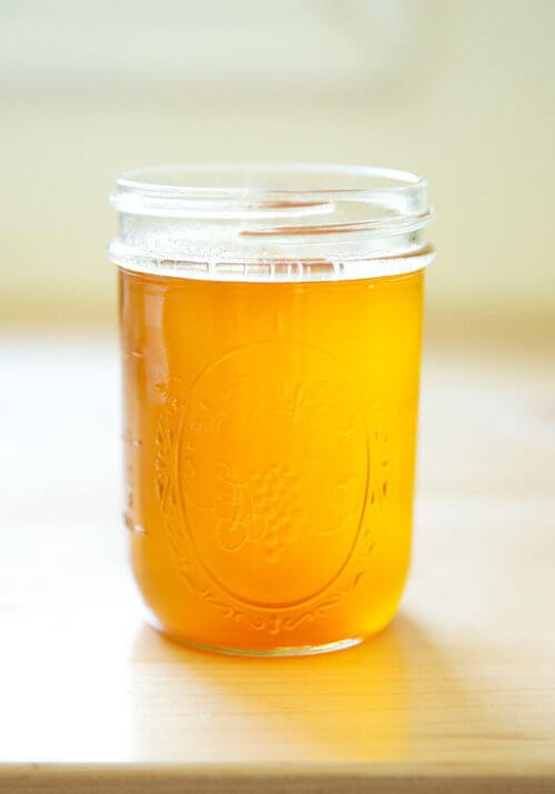 A jar of freshly made ghee.