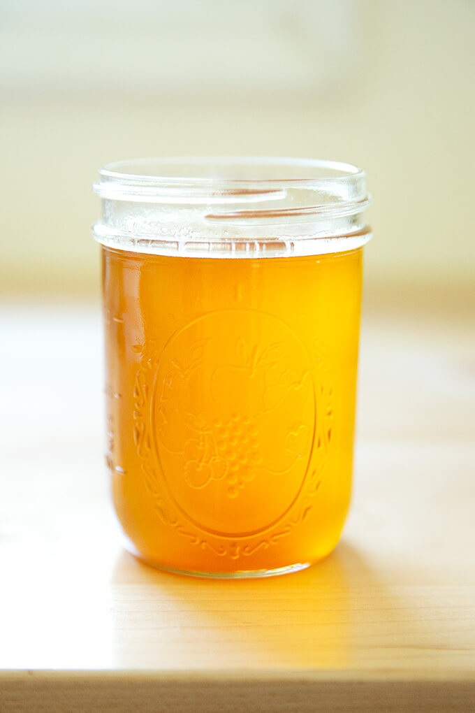 A jar of freshly made ghee.