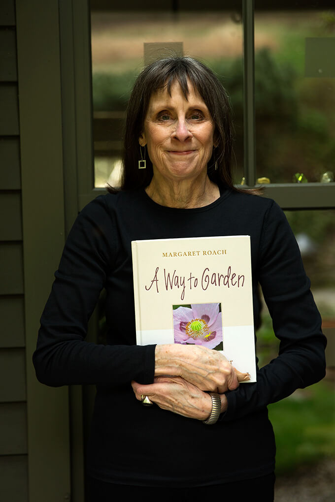 Margaret Roach holds her book, A Way to Garden