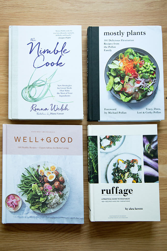 Four new plant-based cookbooks.