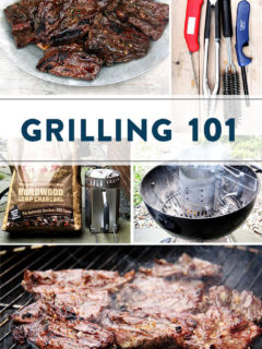 A collection of grilling images.