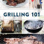 A montage of grilling photos.