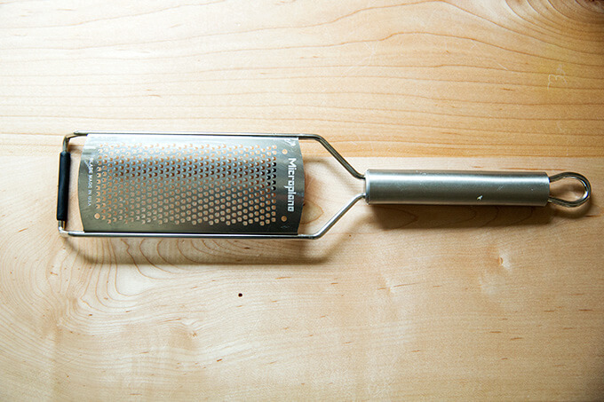 A microplane grater.