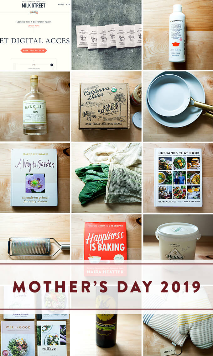 A montage of gifts for Mother's Day 2019.