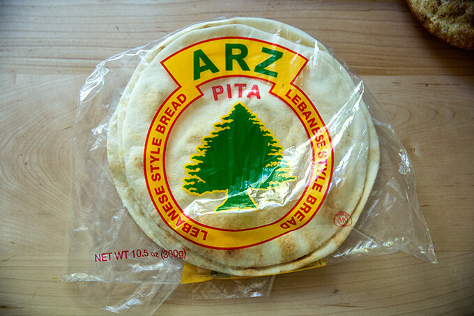 A bag of ARZ pita from Montreal.