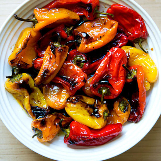 4-Ingredient Balsamic Roasted Mini Peppers