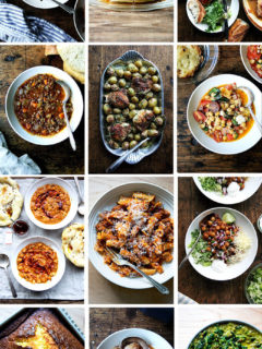 A montage of one-pot recipes