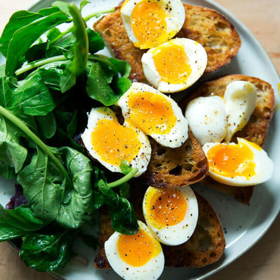 Olive Oil & Vinegar Toasts + Soft-Boiled Eggs