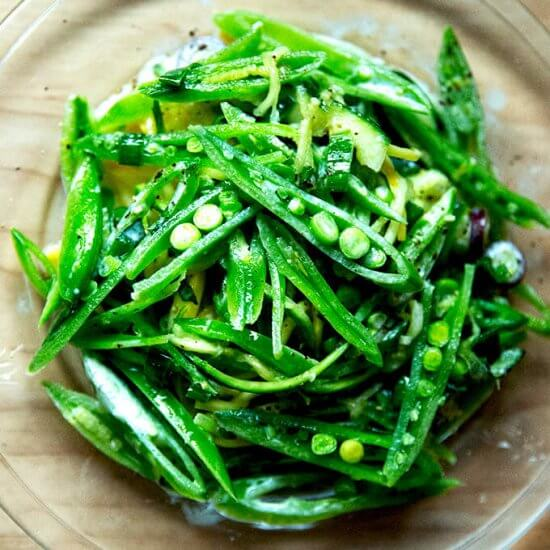 Snap Pea Salad with Buttermilk Dressing