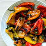 A bowl of balsamic-roasted peppers.