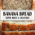 A cut loaf of the best banana bread.